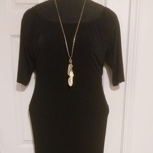 Long Black Dress - Split size 22/24